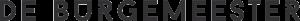 logo_de-burgemeester_zwart